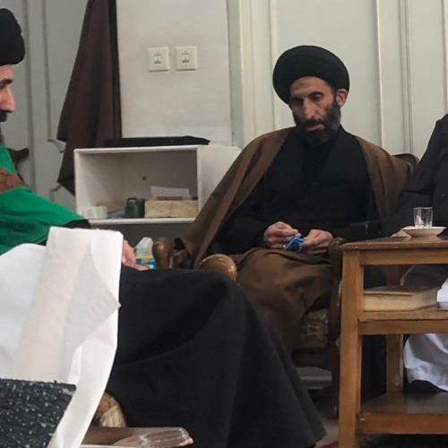 ملاقات استادموسوی مطلق با آیت الله شیخ محمد صافی اصفهانی