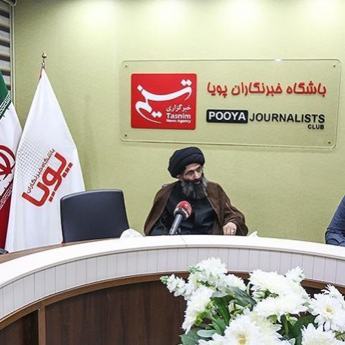 گزارش تصویری حضور حجه الاسلام موسوی مطلق در خبرگزاری تسنیم