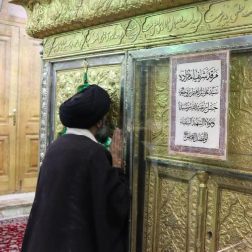 گزارش تصویری حضور در مراسم غبار روبی امامزاده حضرت شاه سید علی علیه السلام
