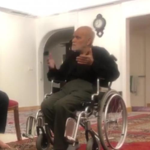 ویدئو ملاقات استاد موسوی مطلق با احمد احمد از مبارزین و زندانیان دوره پهلوی - ۹۸/۸/۶