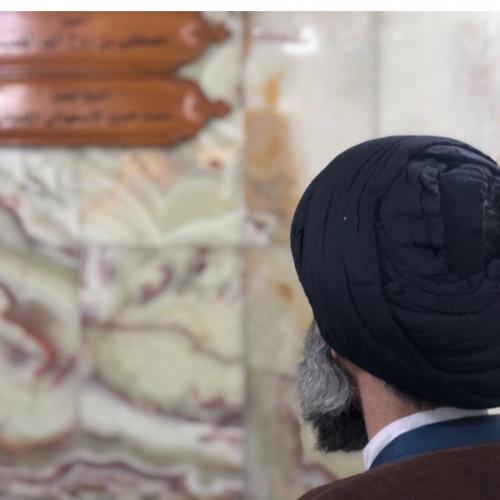 حضور استاد موسوی مطلق بر سر مزار آقا مصطفی خمینی - اربعین ۹۸