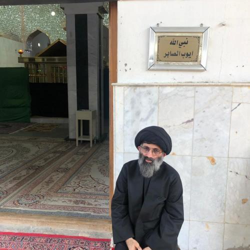 حضور حجت الاسلام موسوی مطلق در مزار منسوب به حضرت ایوب نبی (س) - اربعین ۹۸
