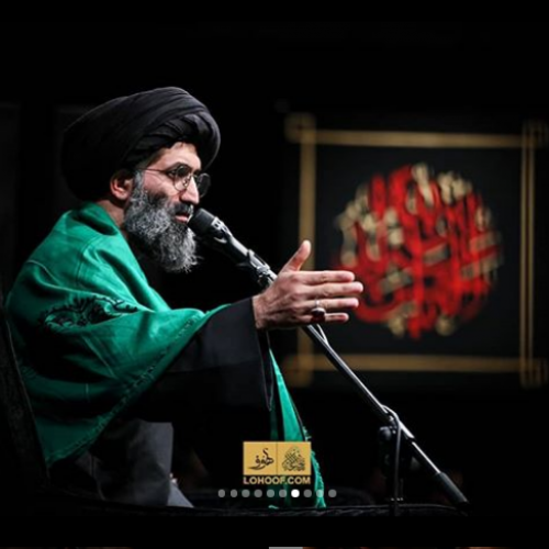گزارش تصویری سخنرانی استاد موسوی مطلق در شب پنجم محرم ۹۸ - ریحانه الحسین(ع)