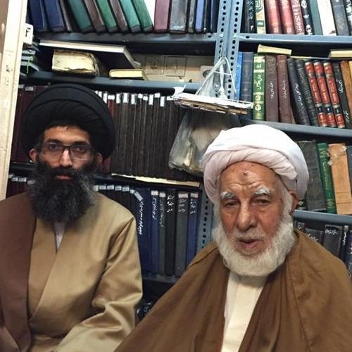 تصاویر ملاقات حجت الاسلام موسوی مطلق با آیت الله حاج شیخ علی فلسفی لطفی زاده