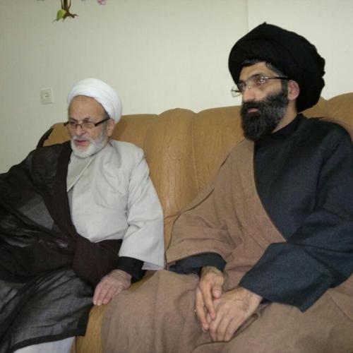 تصاویر ملاقات حجت الاسلام موسوی مطلق با حجتالاسلام شیخ جعفر شجونی