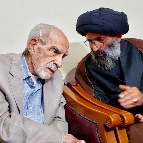 ملاقات حجت الاسلام موسوی مطلق با معلم مهذب اخلاق استاد كريم محمود حقيقى