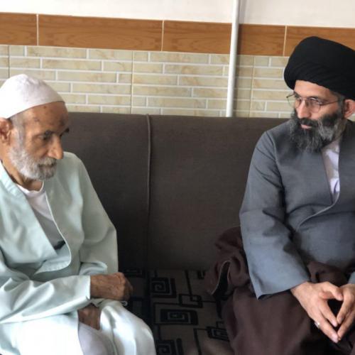 تصاویر ملاقات با عالم عاملِ زاهد حجت الاسلام والمسلمين حاج شيخ باقر انصارى