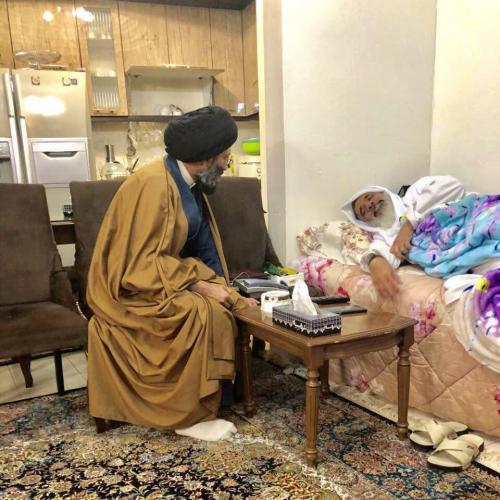 تصاویر ملاقات حجت الاسلام سیدعباس موسوی مطلق با آیت الله قرهی