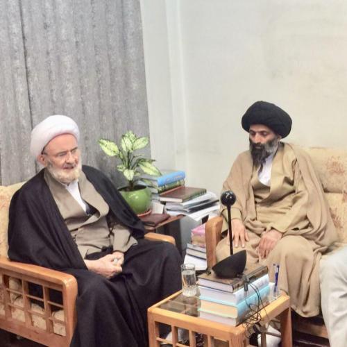 ملاقات حجت الاسلام سیدعباس موسوی مطلق با علامه کورانی
