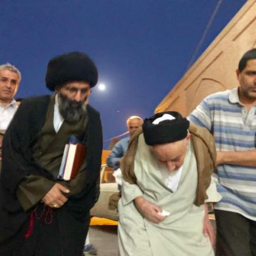 ملاقات حجت الاسلام سیدعباس موسوی مطلق با آیت الله علاقه بند