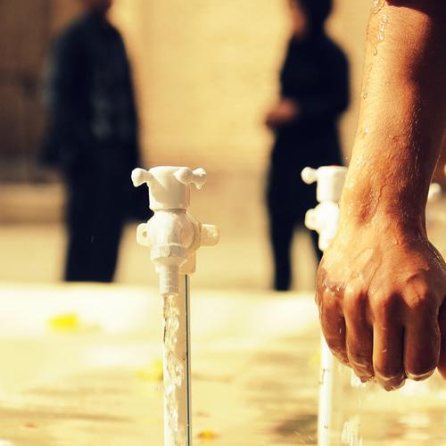 قطرات آب وضو