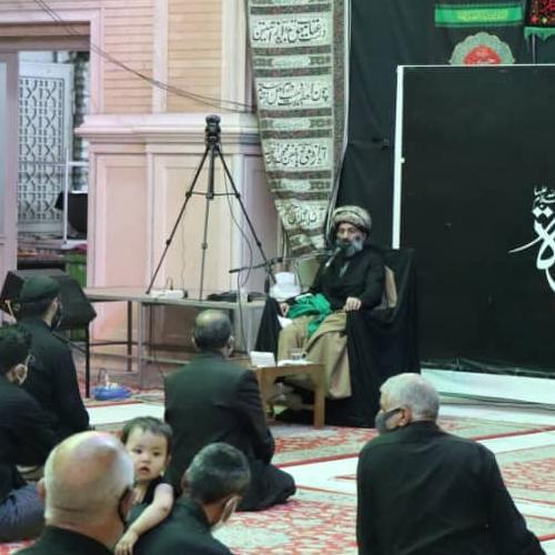 گزارش تصویری از سخنرانی حجت الاسلام موسوی مطلق در شام غریبان حسینی سال ۹۹ - مهدیه تهران