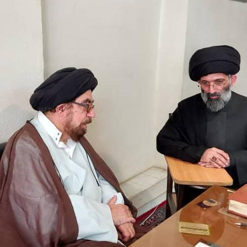 ملاقات حجت الاسلام موسوی مطلق با حجه الاسلام والمسلمین سید ناصر حسینی میبدی