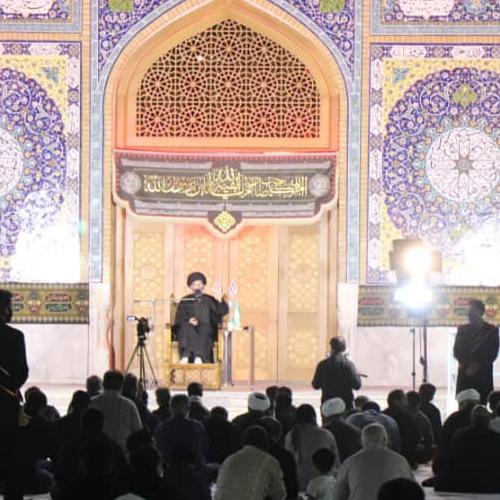 گزارش تصویری از سخنرانی حجت الاسلام سیّدعباس موسوی مطلق در  مسجد جمکران ۹۹