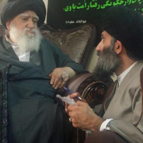 ملاقات حجت الاسلام موسوی مطلق با آیتالله سید محمدحسین میرسجادی