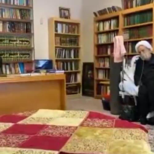 ویدئو شعر خوانی شاعر اهل بیت حاج محمد سهرابی در حضور استاد شیخ حسین انصاریان