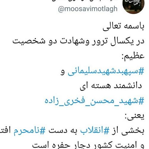 واکنش حجت الاسلام موسوی مطلق به شهادت شهید فخری زاده