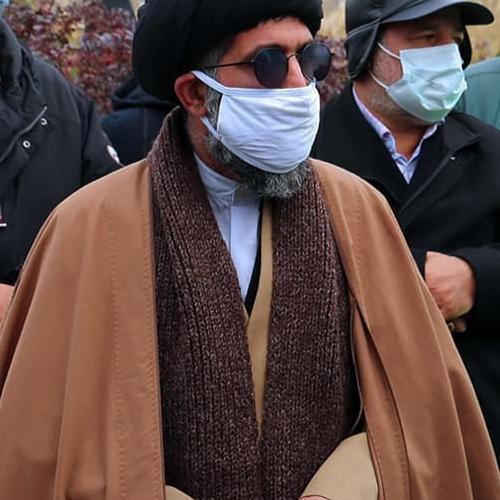 حضور حجت الاسلام موسوی مطلق در مراسم خاکسپاری رزمنده و جانباز شیمیایی حاج محمود ارضی