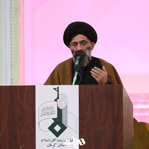 گزارش تصویری از سخنرانی استادموسوی مطلق در سالگرد شهادتحاجقاسم سلیمانی