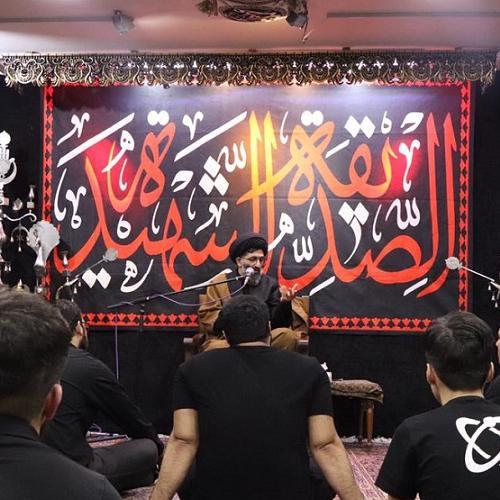 گزارش تصویری سخنرانی حجت الاسلام سیدعباس موسوی مطلق در ایام فاطمیه ۹۹