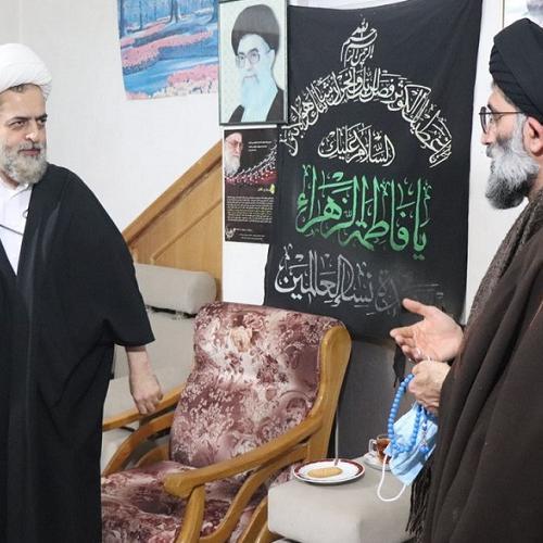 ملاقات حجت الاسلام موسوی مطلق با فرزند مرحوم آیت الله علی نژاد