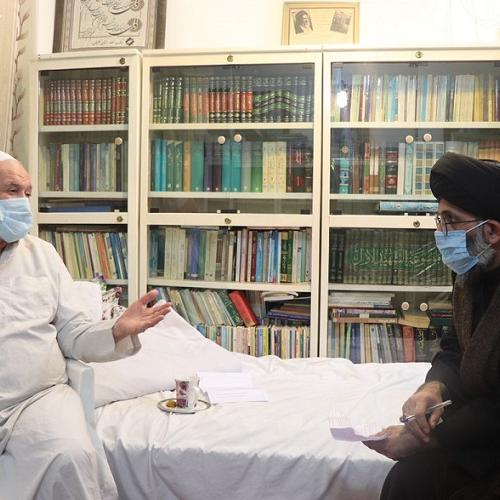 ملاقات حجت الاسلام موسوی مطلق با آیت الله سید عبدالهادی شاهرودی