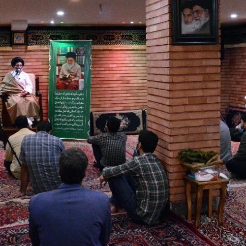 گزارش تصویری از درس اخلاق حجت الاسلام استاد سیّدعباس موسوی مطلق - ۲۳ فروردین ۱۴۰۰
