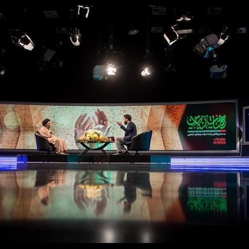 گزارش تصویری از حضور حجت الاسلام موسوی مطلق در ویژه برنامه هیئت آنلاین