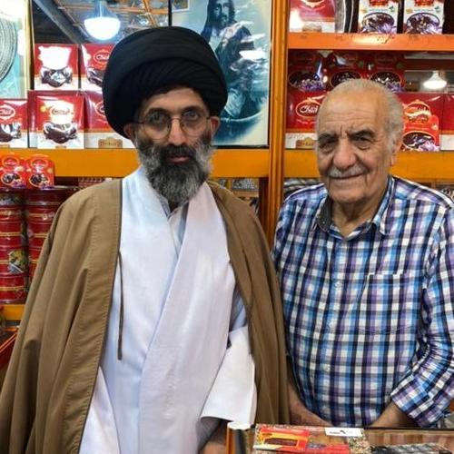 ملاقات حجت الاسلام موسوی مطلق با حاج اقا جعفر تقی پور