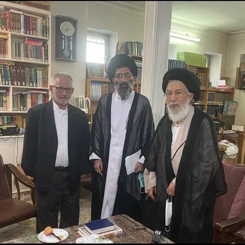 ملاقات حجت الاسلام موسوی مطلق با آیت الله سیدجعفر سیدان