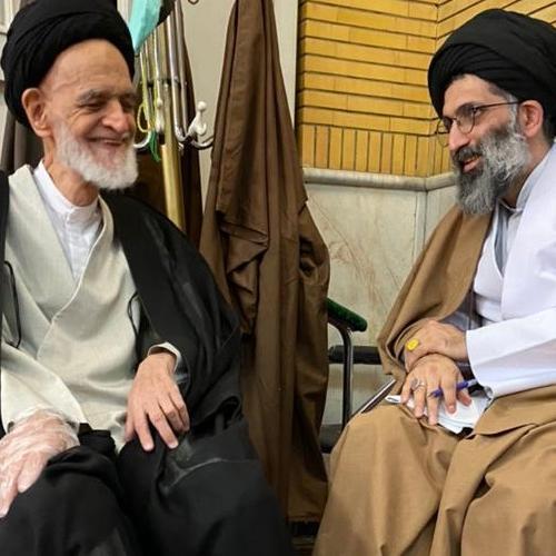 ملاقات حجت الاسلام موسوی مطلق با آیت الله حاج سید محمد طالبیان