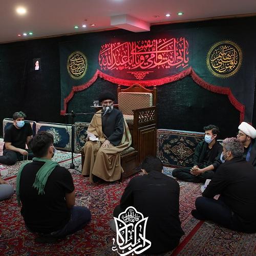 گزارش تصویری از سخنرانی حجت الاسلام سیّدعباس موسوی مطلق در روز سوم محرم ۱۴۰۰