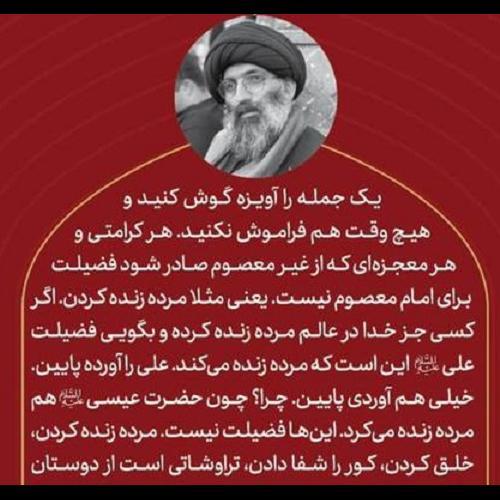 فضیلت اهل بیت بالاتر از مرده زنده کردن!!!